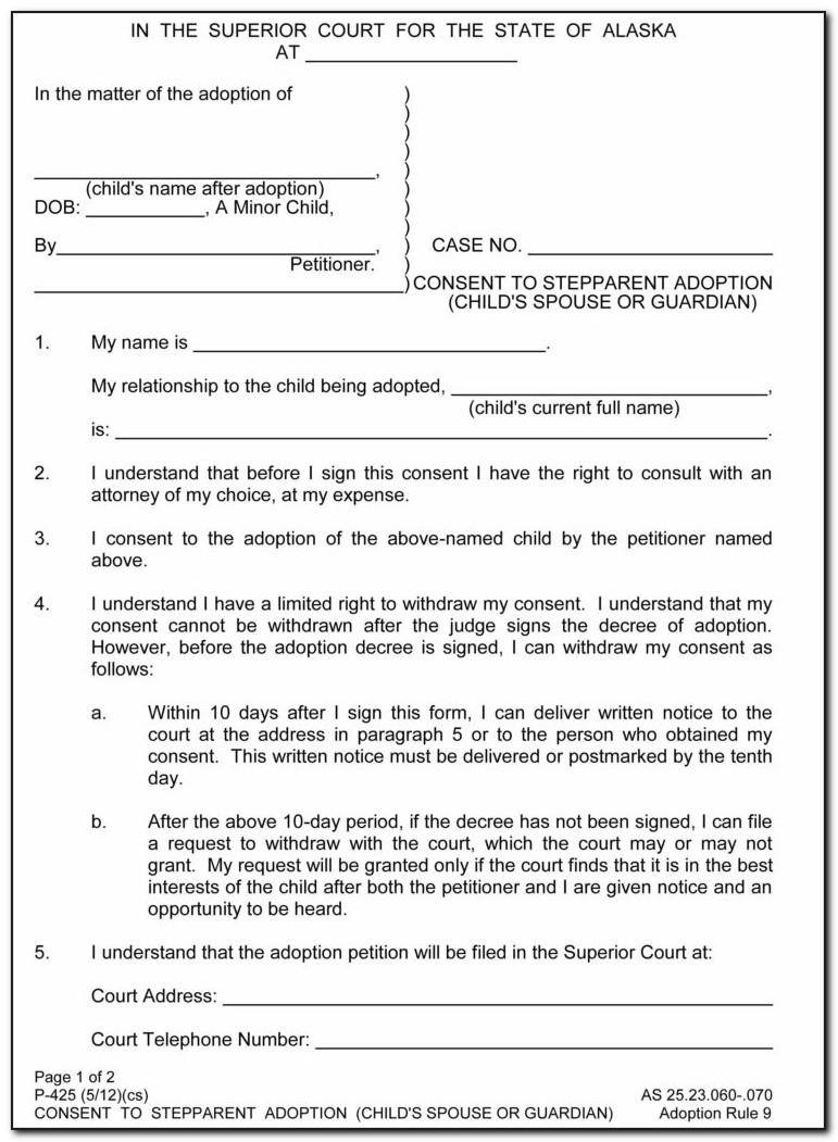 Free Stepparent Adoption Forms Georgia