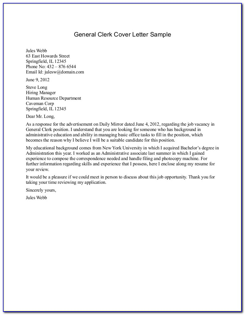 Free Templates Cover Letters For Resumes