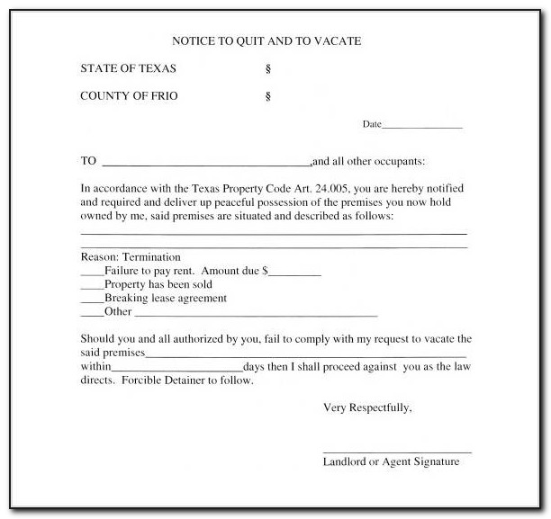 Free Texas 3 Day Eviction Notice Form