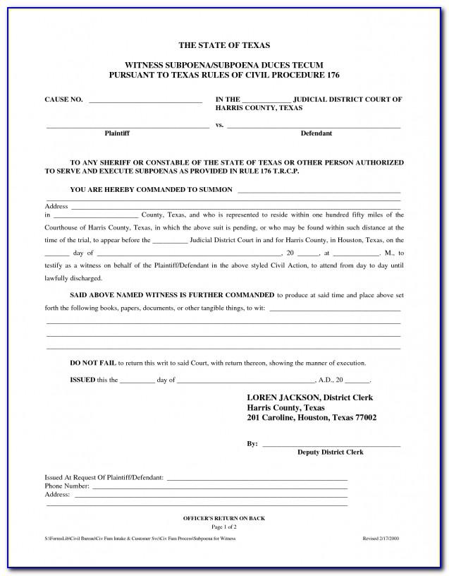 Free Texas Divorce Forms Pdf