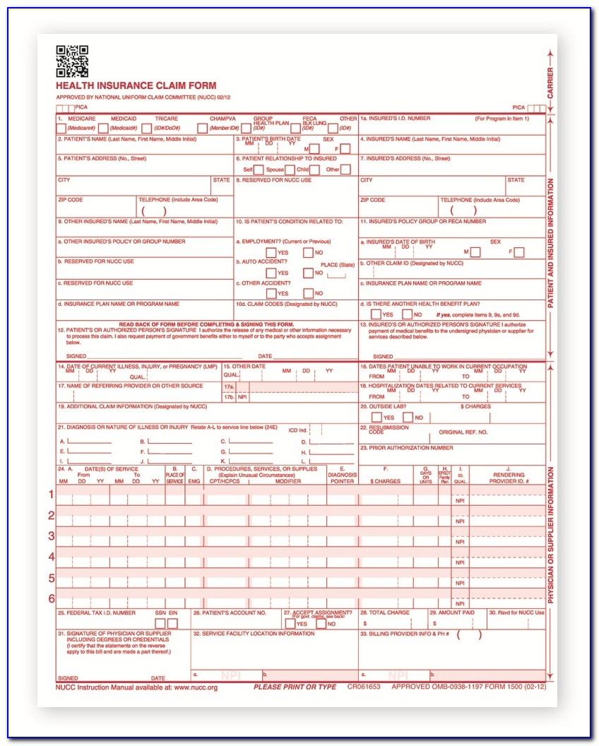 Hcfa Form 1500 Pdf