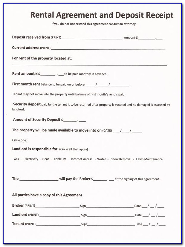 Home Renters Lease Form