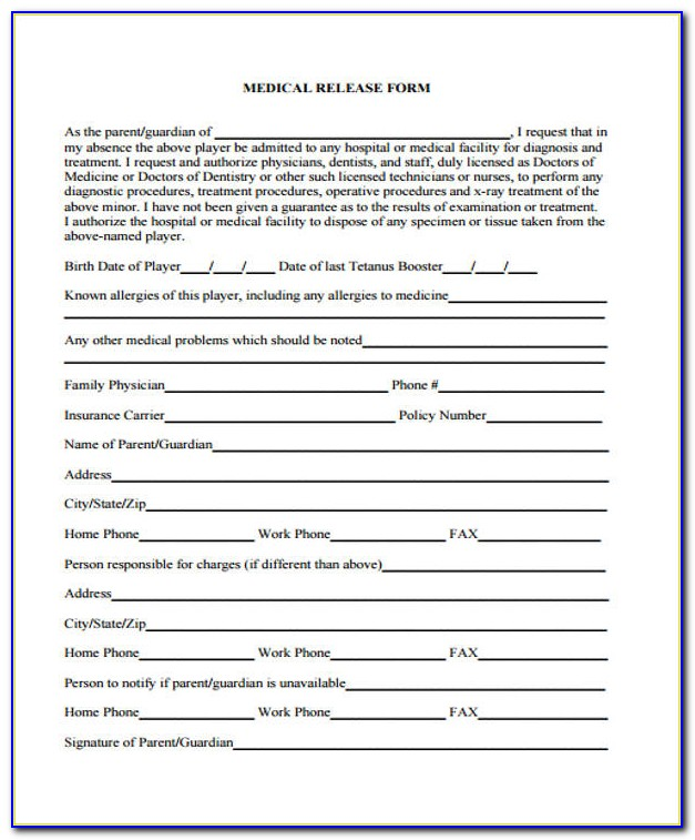 Hospital Discharge Form Template Pdf