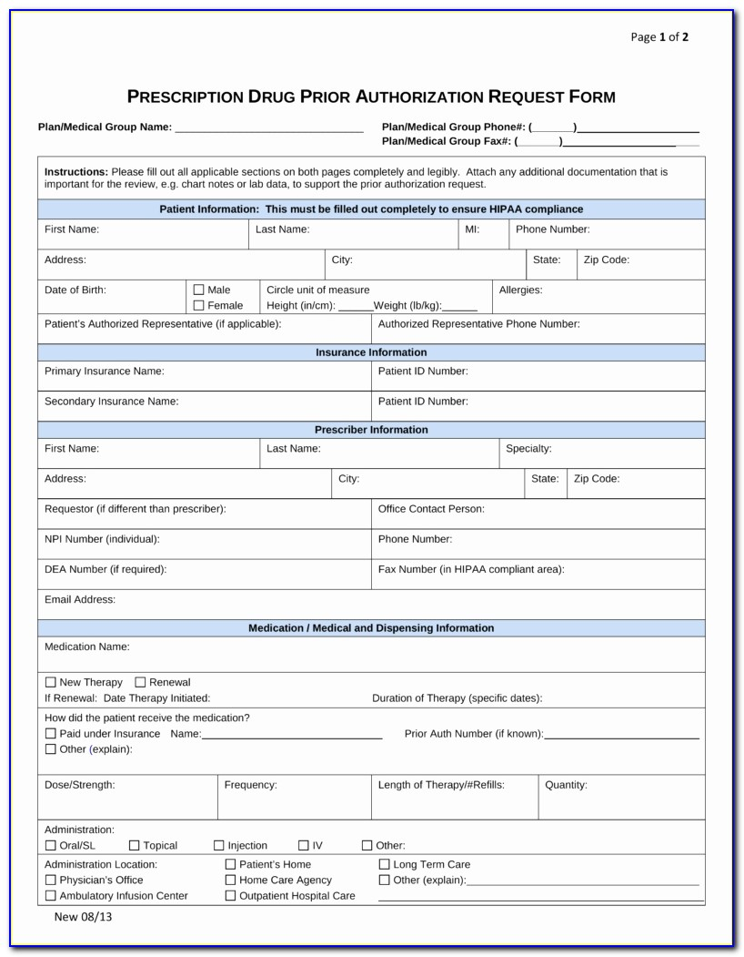 Humana Gold Medicare Part D Prior Authorization Form