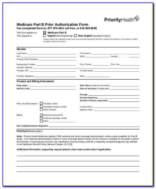 Humana Medicare Medication Prior Authorization Form
