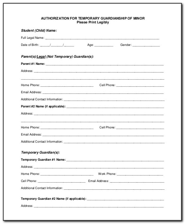 Indiana State Guardianship Forms