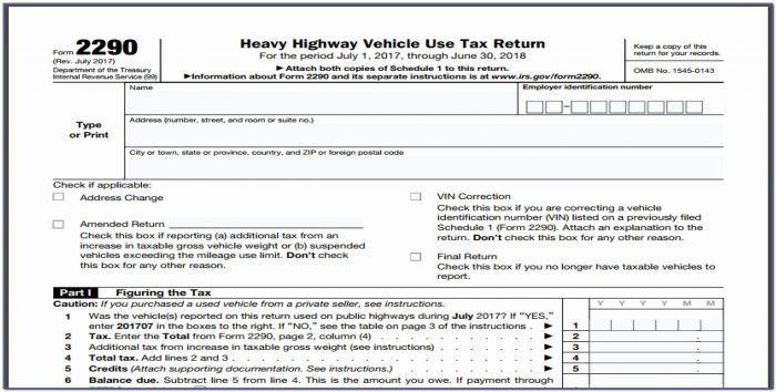2290 Form Inspirational Irs Form 2290 Instructions Choice Image Form Example Ideas