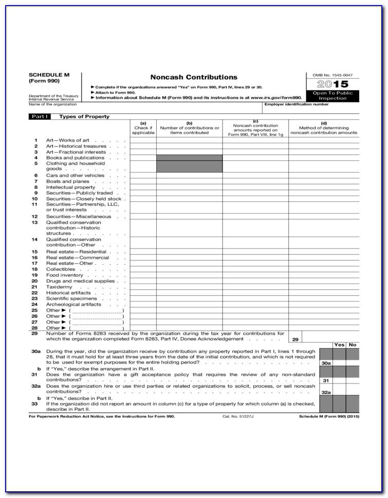 Irs Form 990 Ez 2015