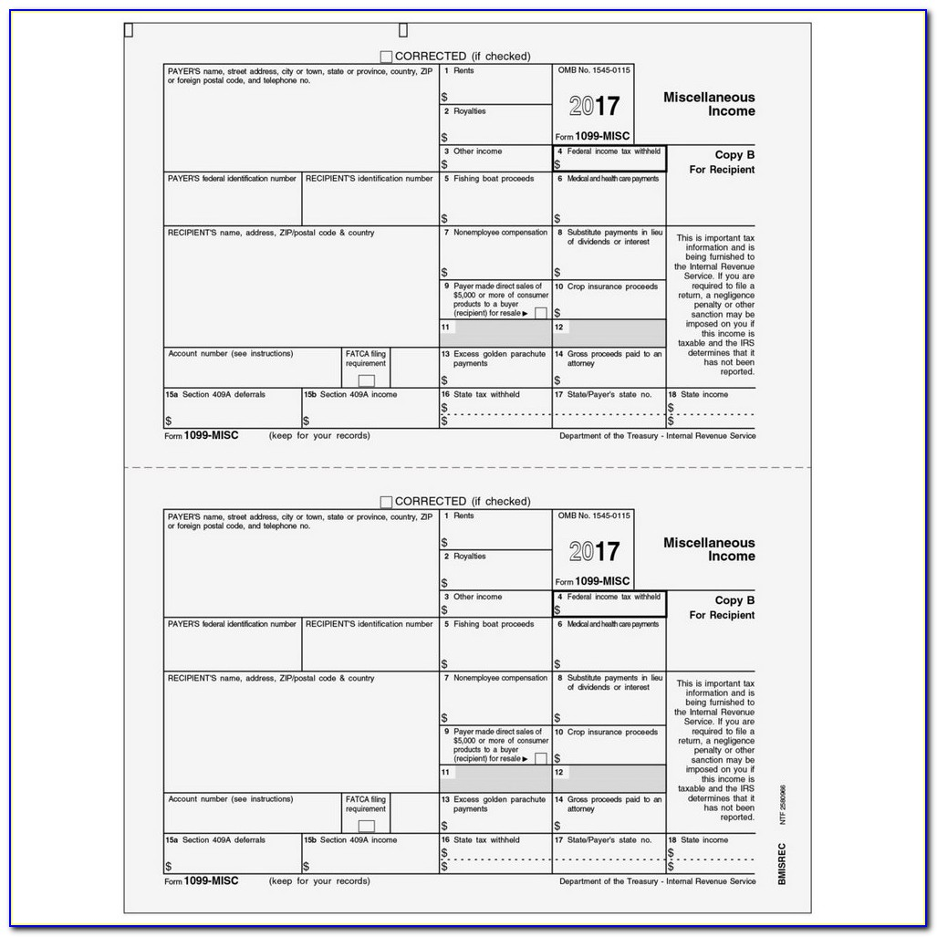 Irs Forms 1099 Misc 2017