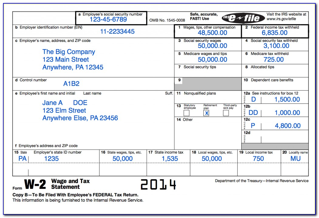 Irs W 2 Forms Order