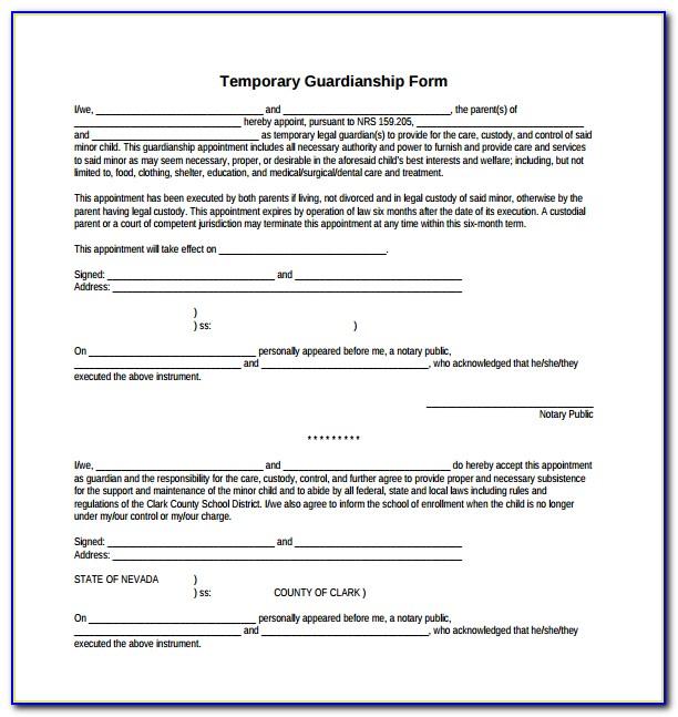 Kansas Guardianship Paperwork