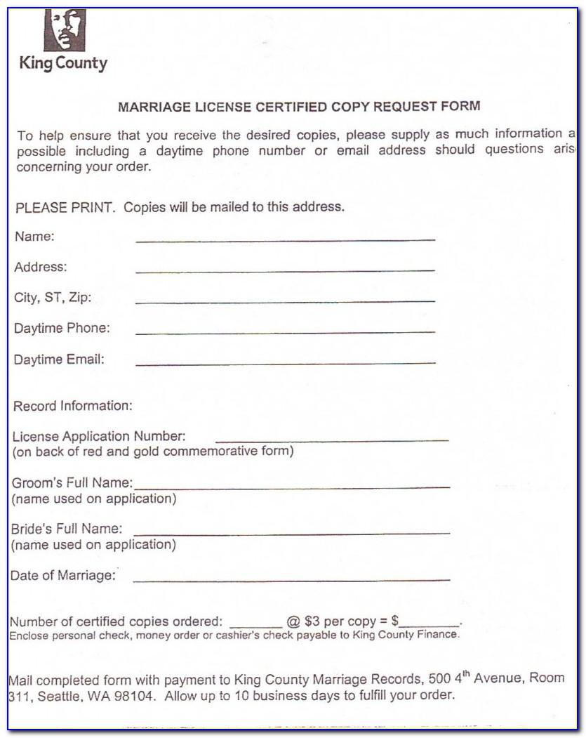 King County Washington Divorce Forms