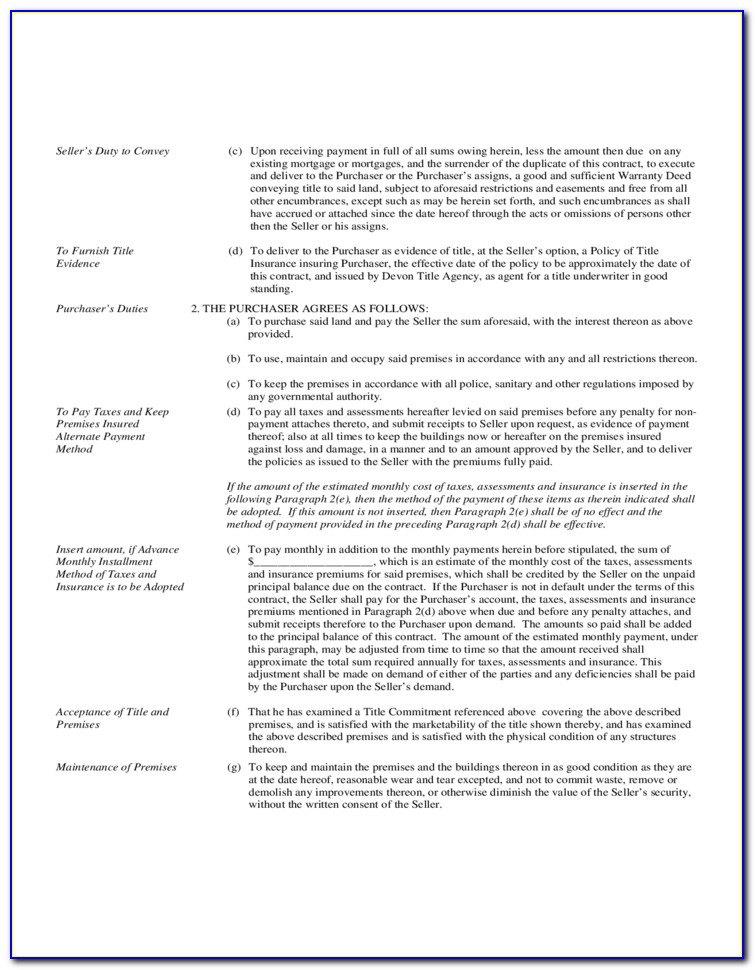 Land Contract Forfeiture Form Michigan