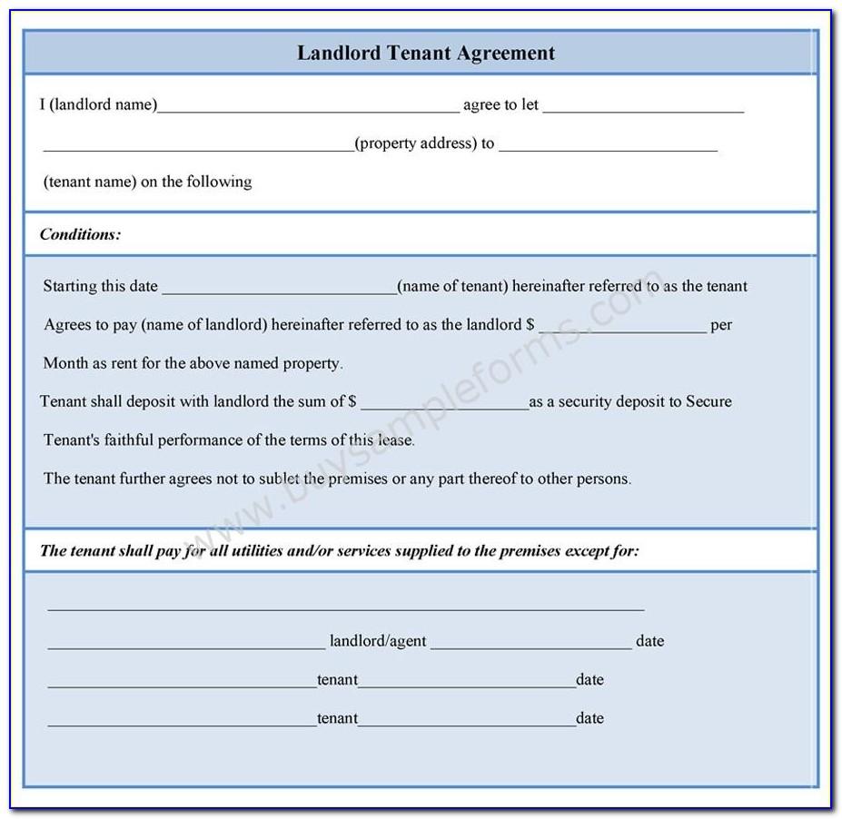 Landlord Tenant Agreement Form Free
