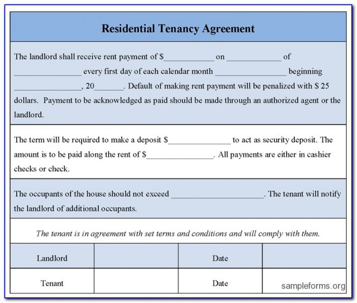 Landlord Tenant Agreement Form Kenya