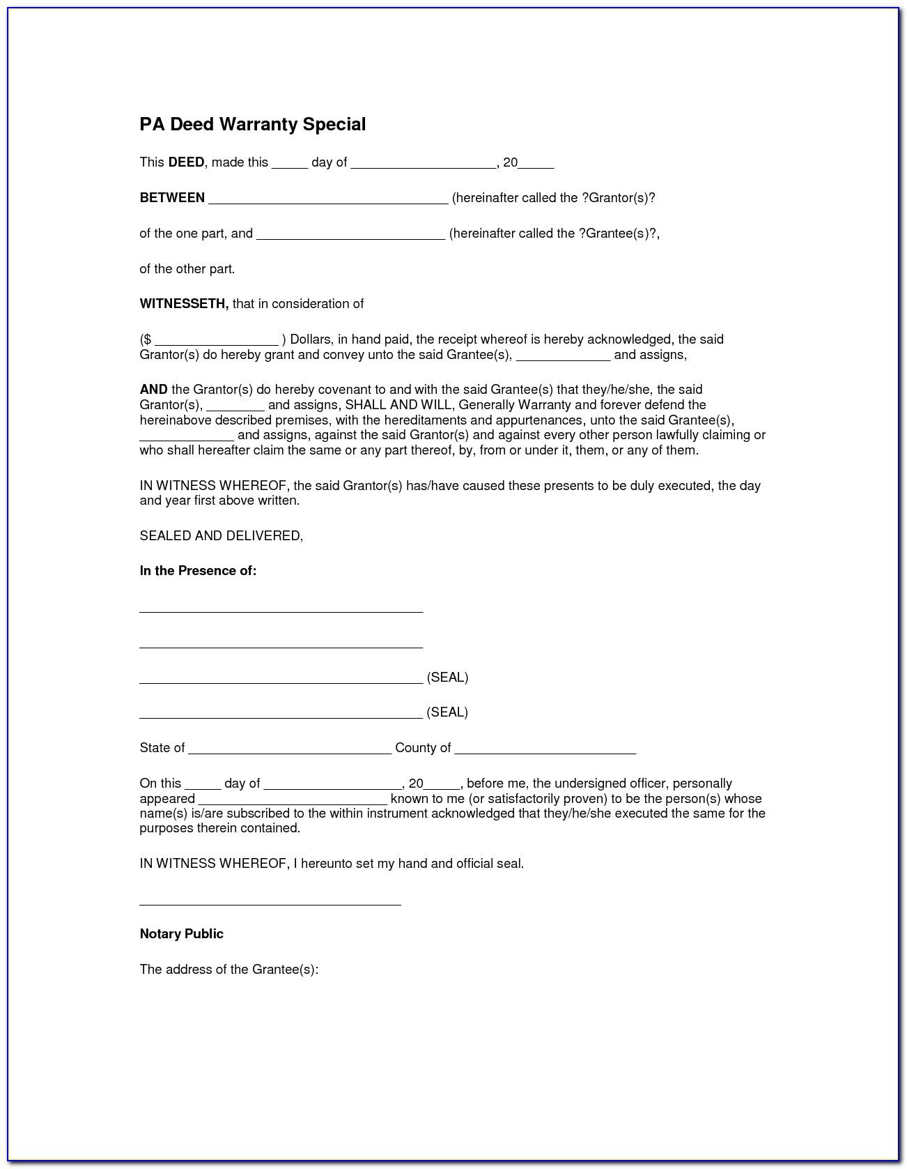 Lee County Florida Warranty Deed Form