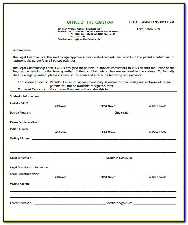 Legal Guardianship Forms Texas