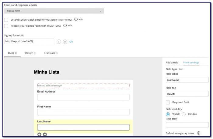 Mailchimp Form Builder Change Button Text