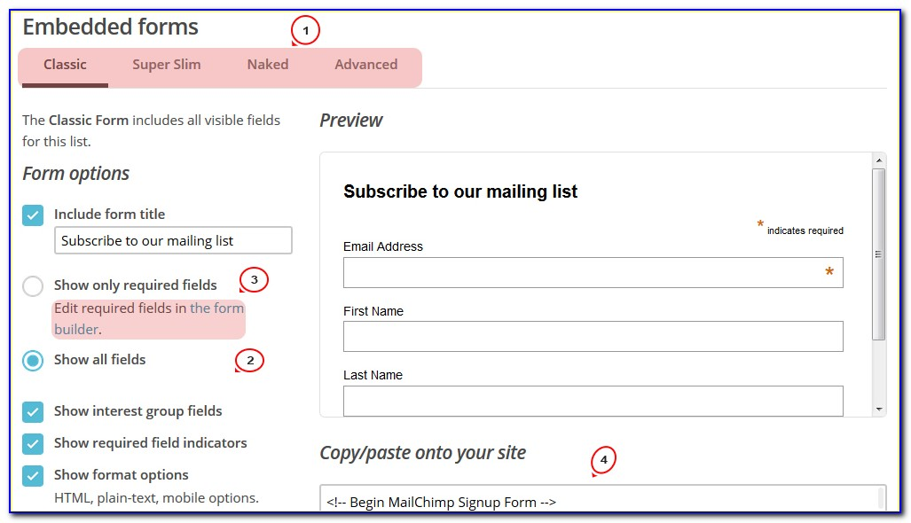 Mailchimp Form Builder Help