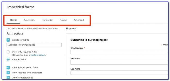 Mailchimp Form Builder Wordpress