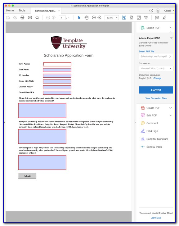Make A Fillable Form In Microsoft Word