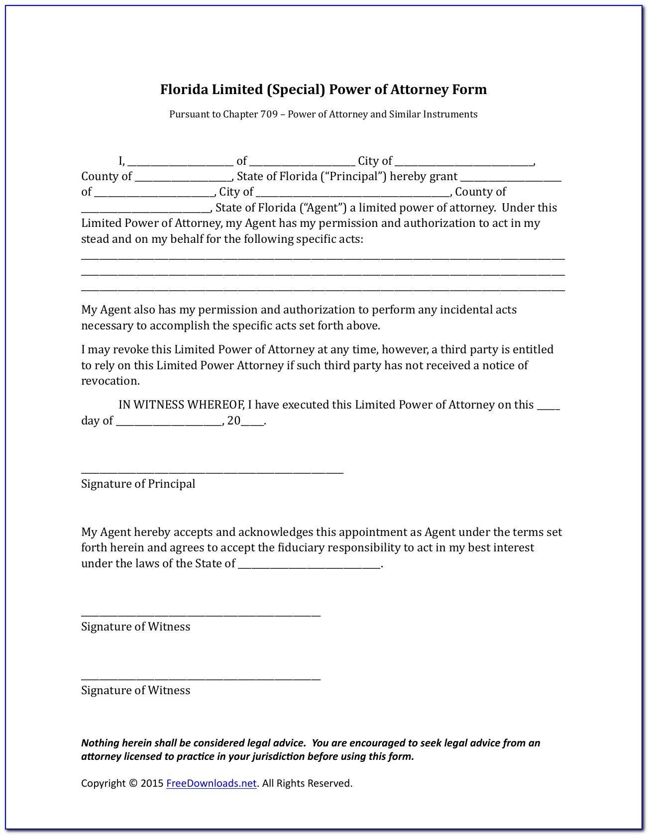 Medical Power Of Attorney Forms Free Download