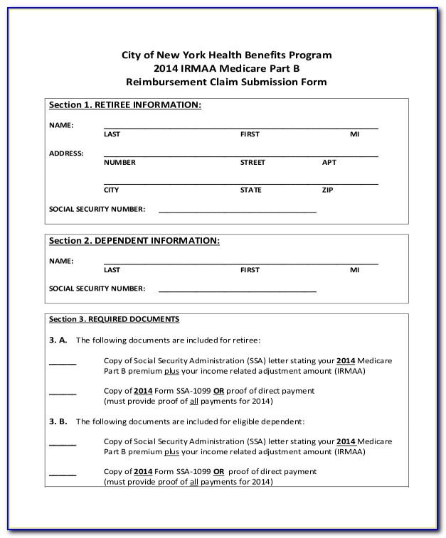Medicare Part A Application Form Pdf