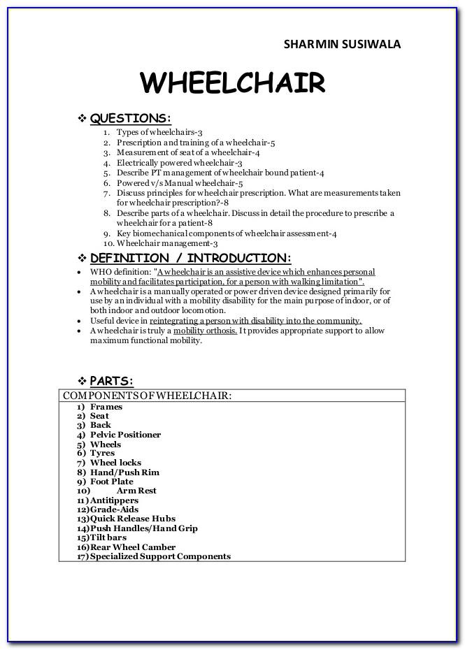Medicare Power Wheelchair Evaluation Form