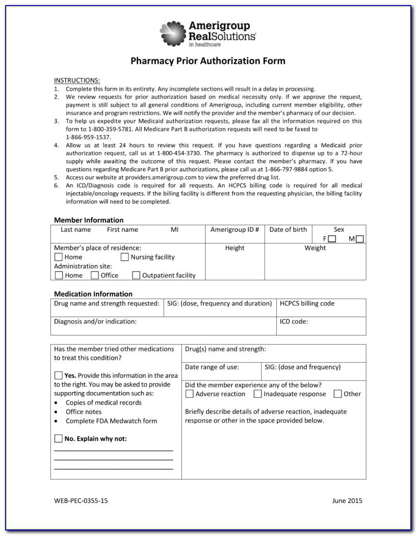 Medicare Prior Auth Form For Meds