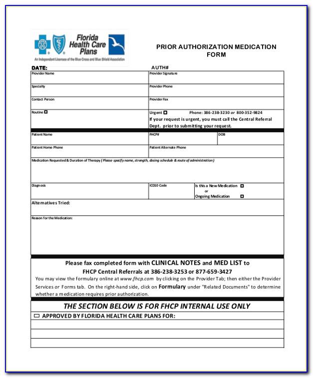 Medicare Prior Authorization Form Pdf