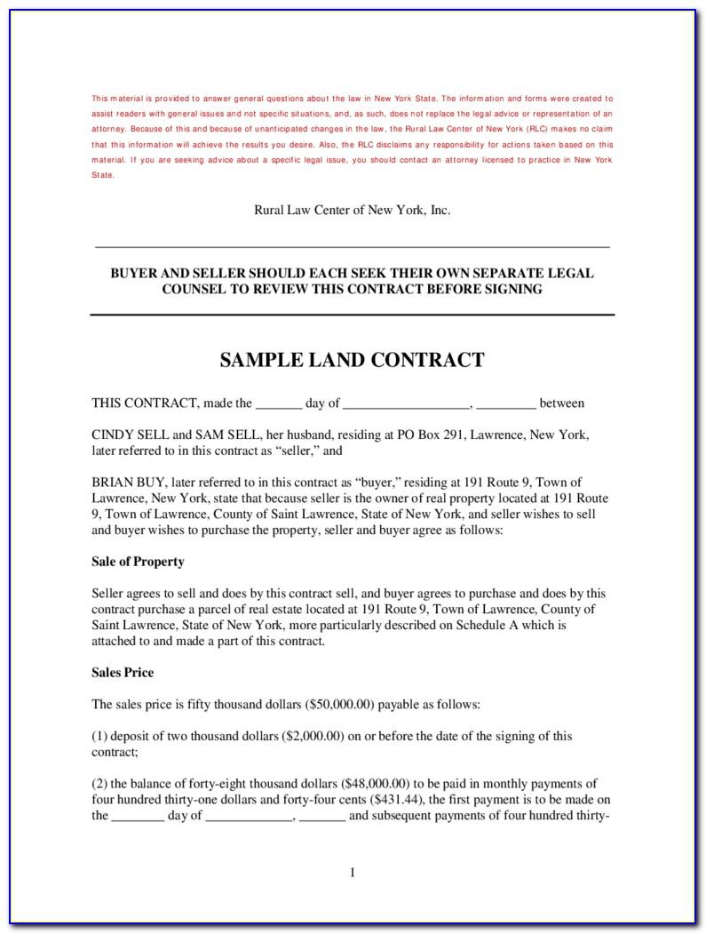 Memorandum Of Land Contract Form Michigan