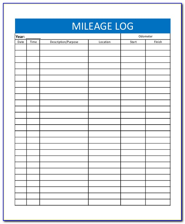 Mileage Tracker Form Excel