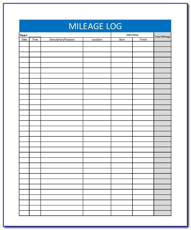 Mileage Tracker Form Irs