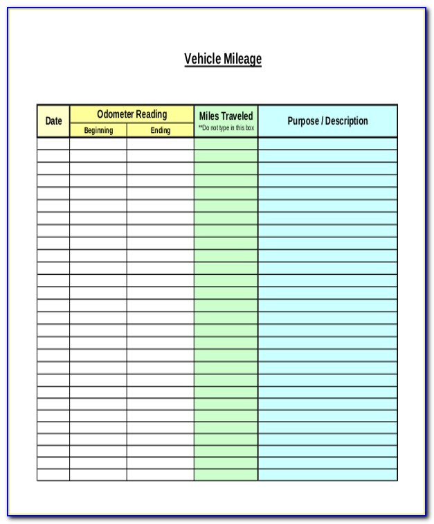 Mileage Tracker Sheet For Taxes