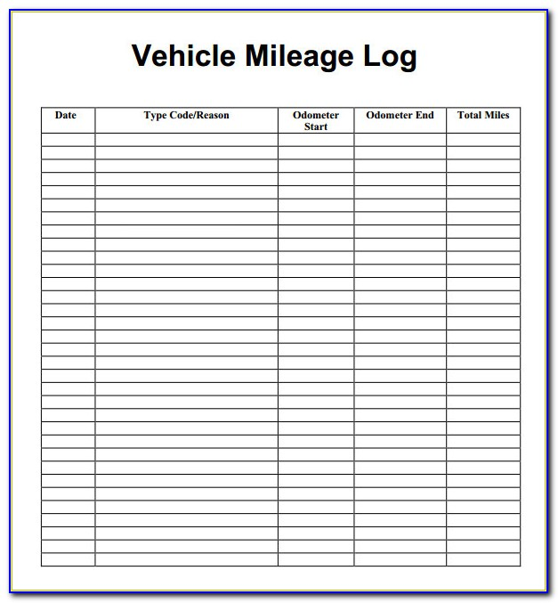 Mileage Tracker Sheet
