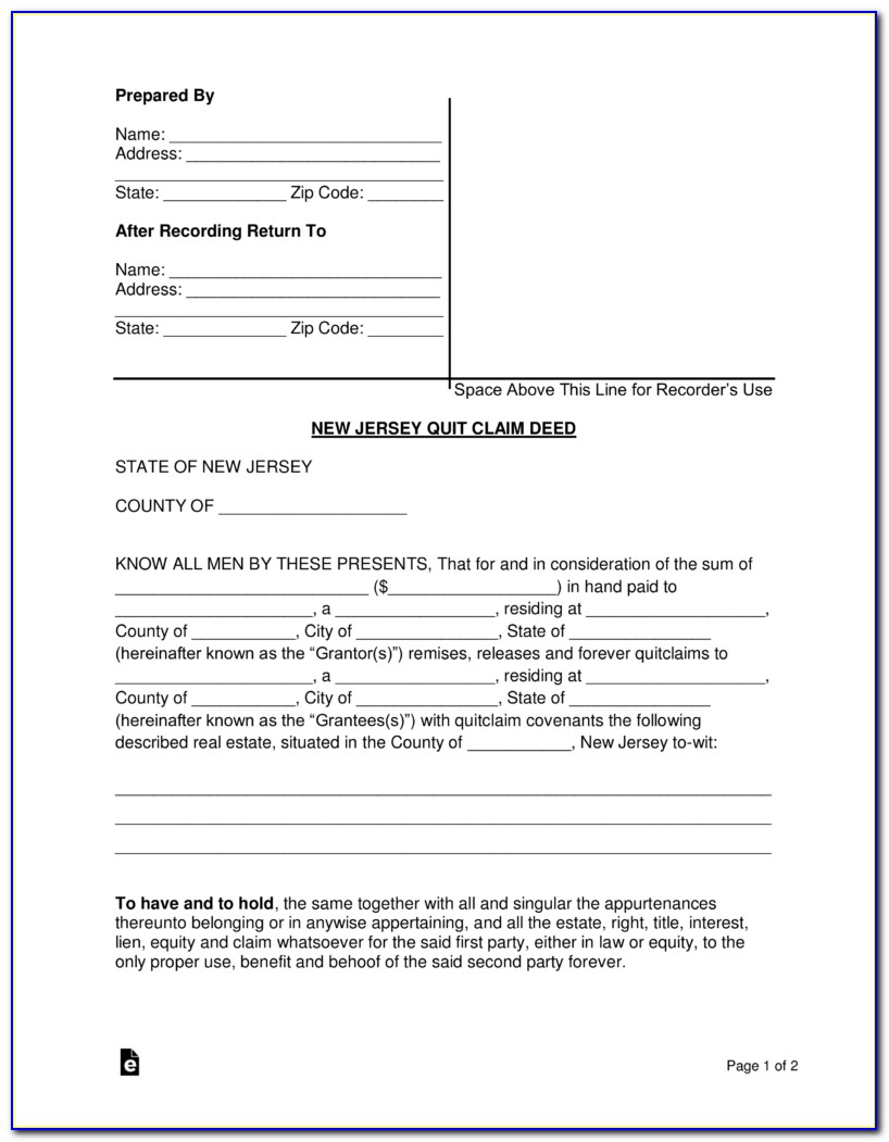 New Jersey Court Divorce Forms