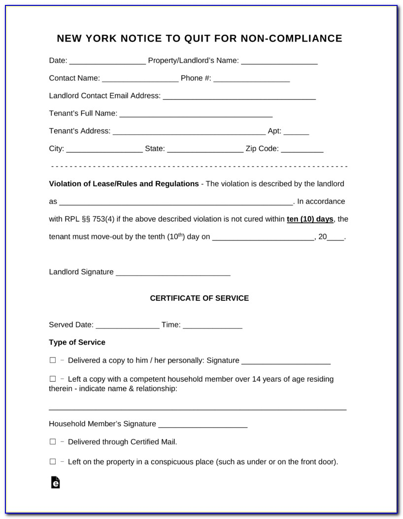 New York State Eviction Forms