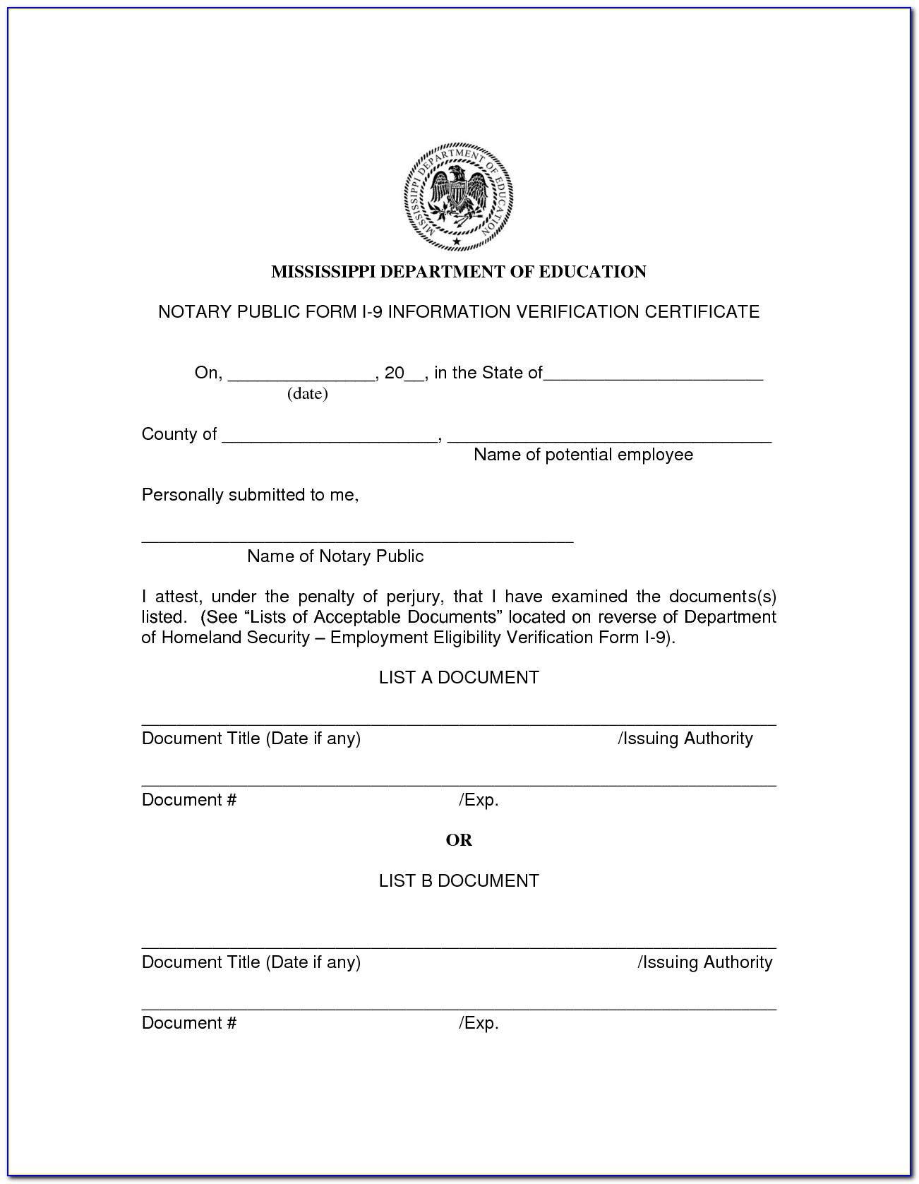 Notary Public Forms Of Id