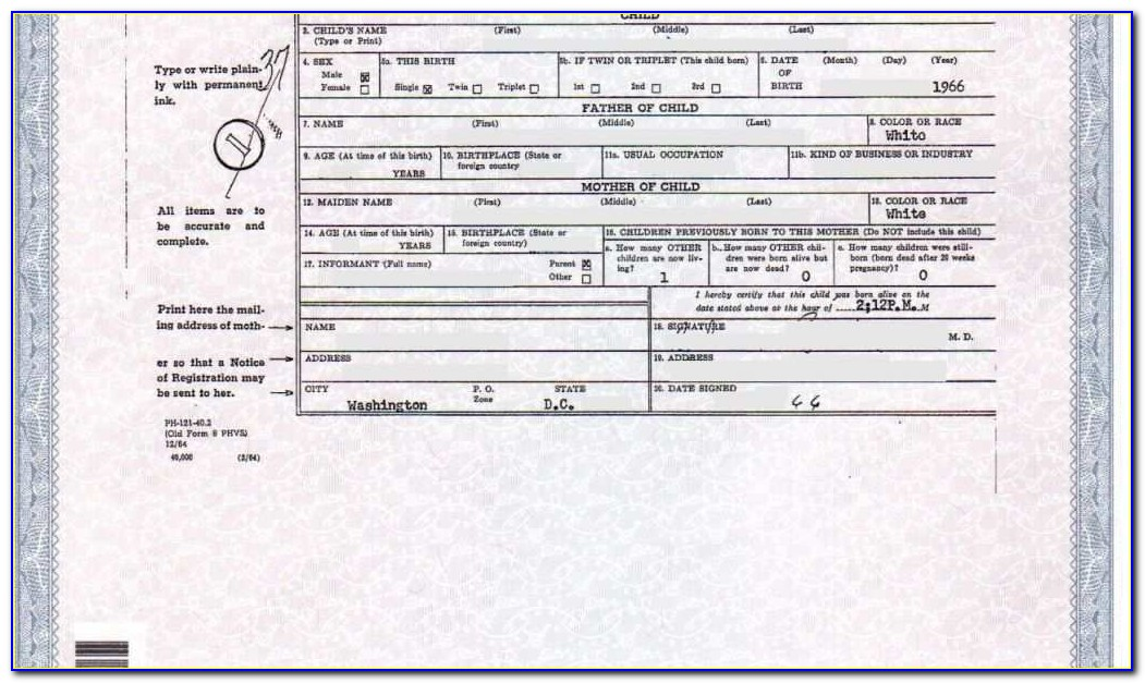 Oregon Birth Certificate Request Form
