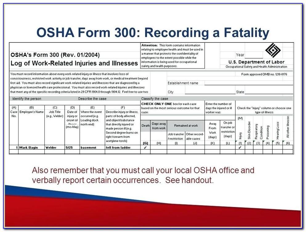 Osha 300a Form Awesome Osha Form 300a Excel Form Form Resume Examples Osha Form 300