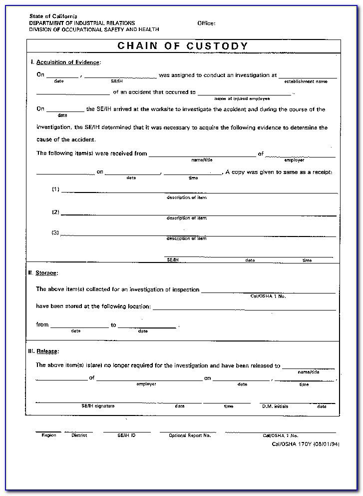 Osha Incident Report Format