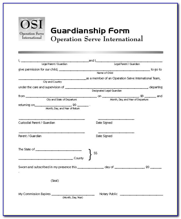 Pa Temporary Guardianship Forms