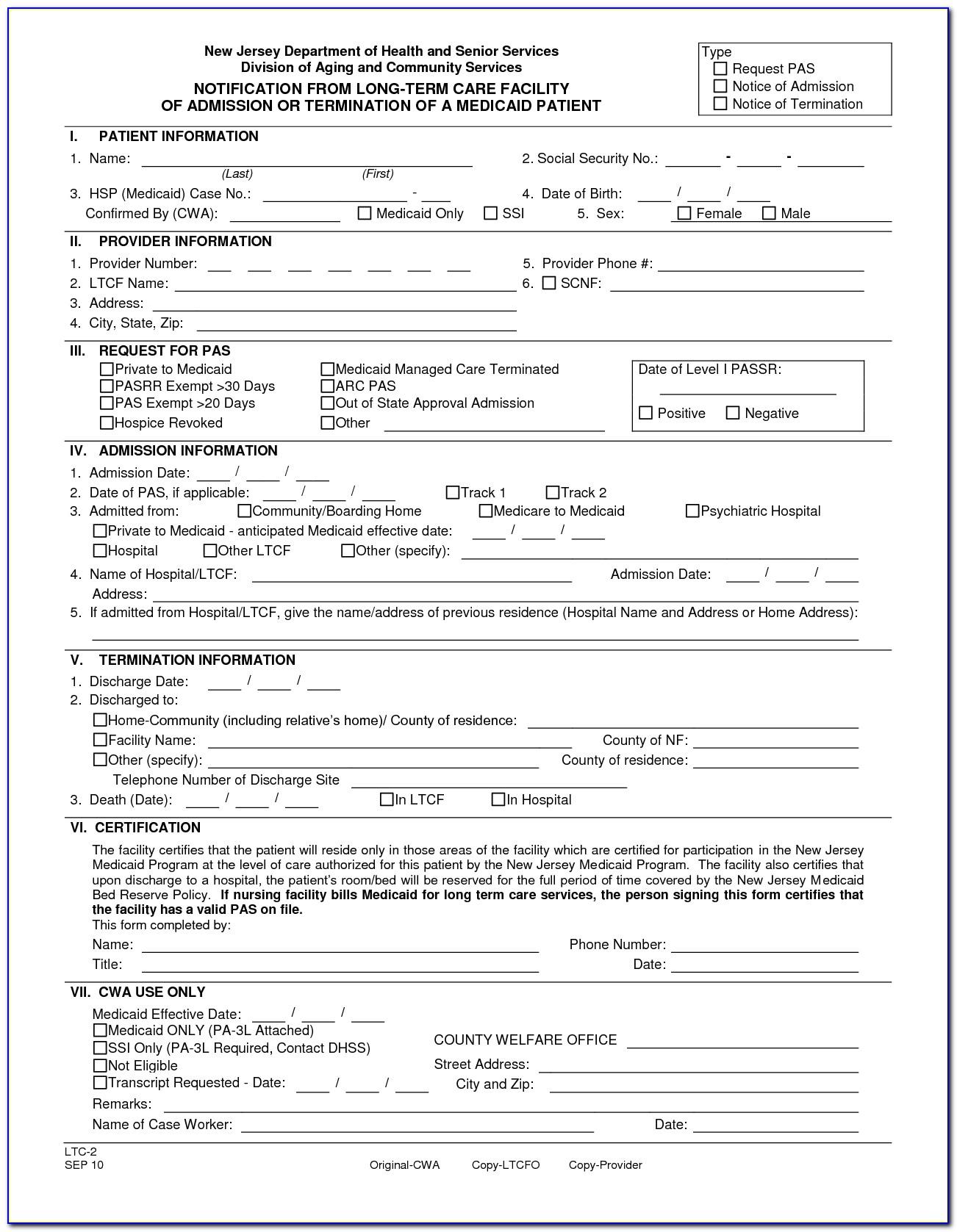 Patient Discharge Form Template