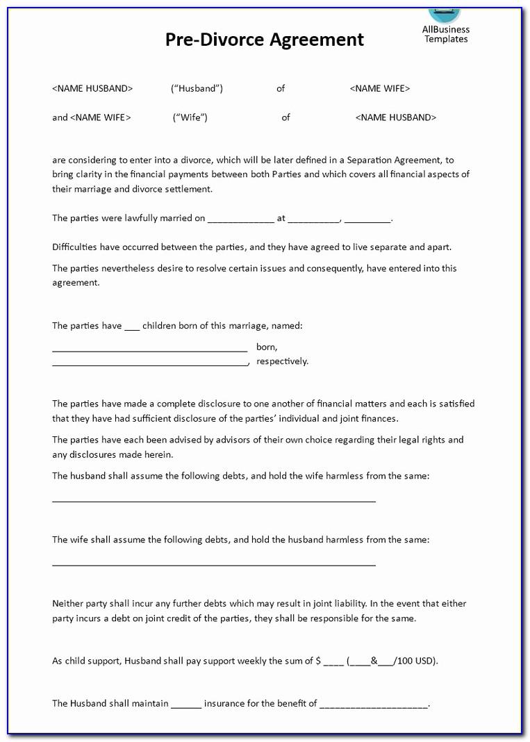Postnuptial Agreement Form Florida