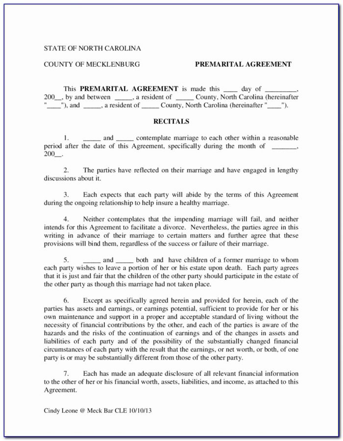 Postnuptial Agreement Form Washington State