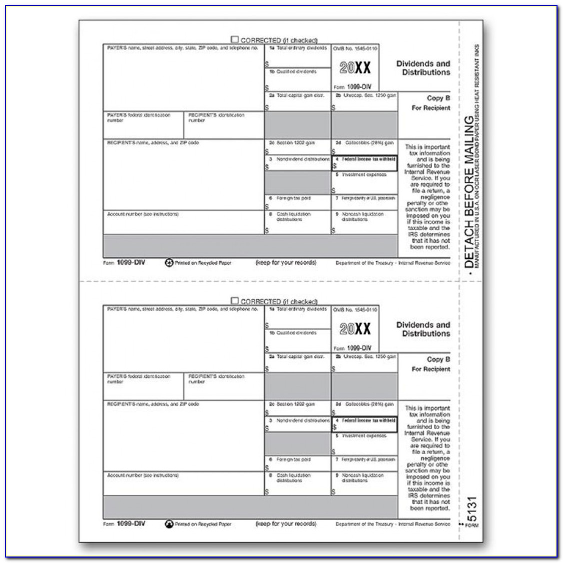 Printable 1099 Form 2017 Copy A