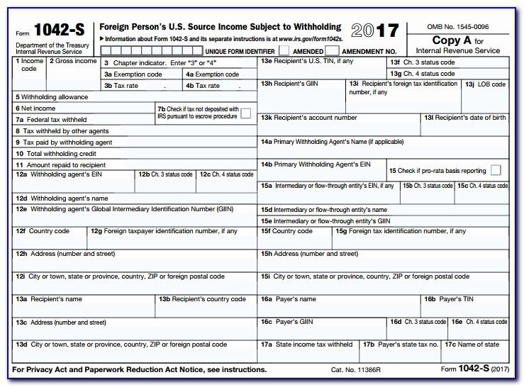 Printable 1099 Interest Form 2017