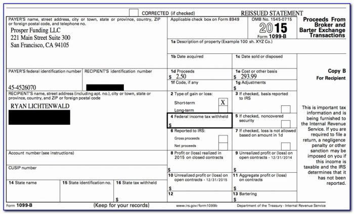 Printable 1099 Misc Tax Form Template