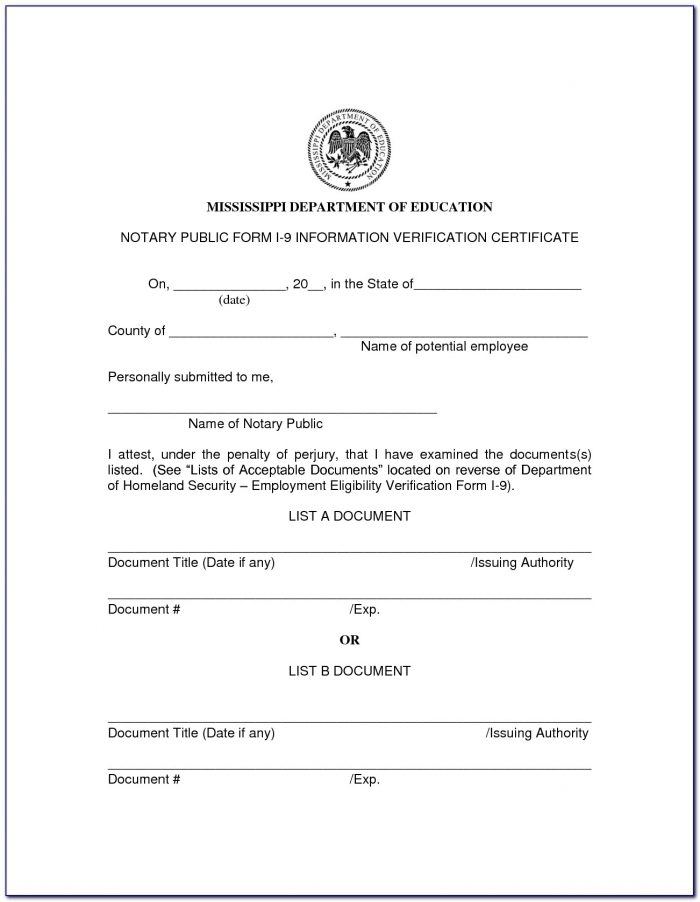 Printable Notary Forms Massachusetts