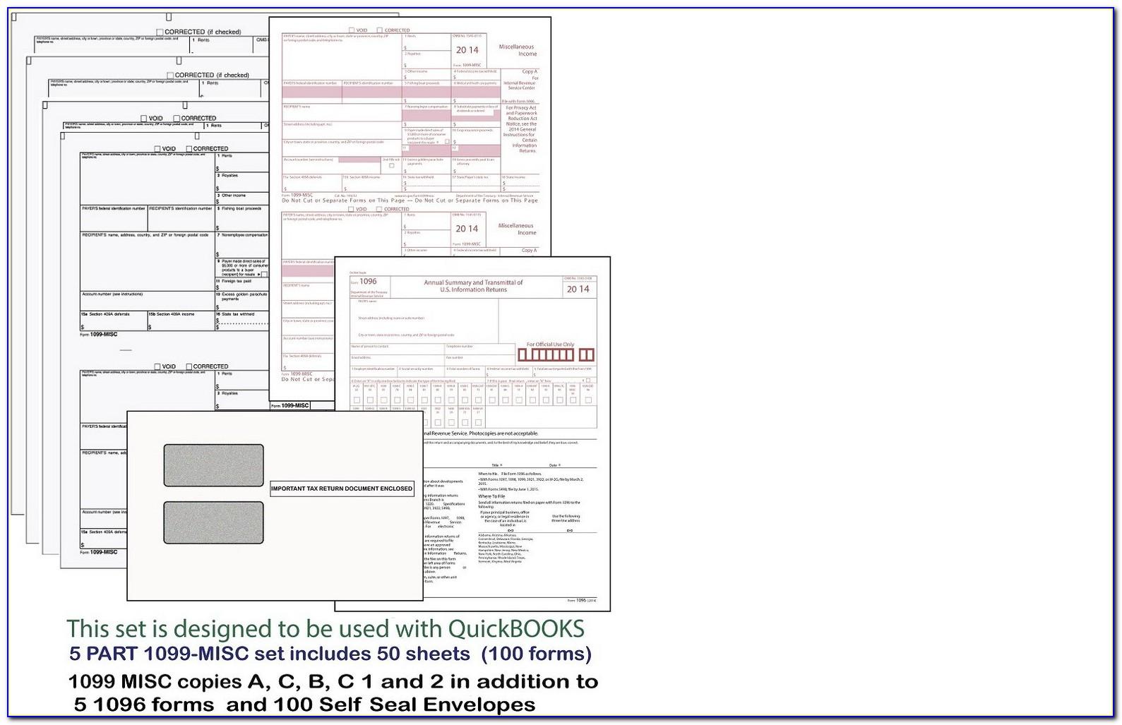 Quickbooks Desktop 1099 Forms